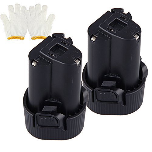 URPOWER® 2 Pack 10.8V Battery for Makita Makbl1013 Bl1013 10.8-volt Li-ion Pod Style Battery 194551-4 194550-6 1.5Ah