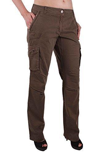 Napapijri Donna Pantalone Jeans Cargo Cachi Tgl 42 #RIF143 - Marrone, 42