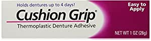 Cushion Grip Thermoplastic Denture Adhesive, 1-Ounce Tubes