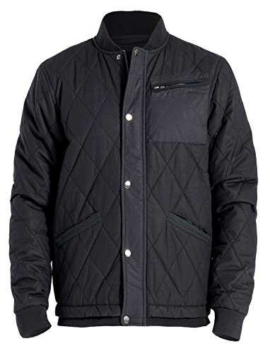 J Doe Style Men's Premium Quilted Jacket w/Drawstring and Pockets(Size:S-3X), XL, Black