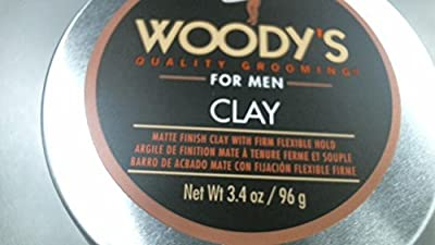 Cheapest Woody's Quality Grooming for Men Clay Firm Flexible Hold Styling Product 4 Ounces by Woody's For Men - Free Shipping Available