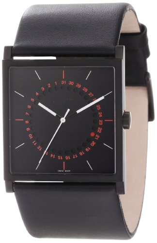 A.B. Art Unisex El152 Series El Stainless Steel Swiss Quartz Black Dial And Leather Strap Watch