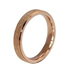buy Anazoz Jewelry Romantic Rose Gold Rings For Women Wedding Engagement Dull Polish Style