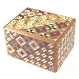 Yosegi Puzzle Box 2 sun - 5 steps - This Japanese Secret / Puzzle Box is made in the Yosegi pattern. This pattern is the original traditional design used for puzzle boxes. Every box is a little different in design depending upon how the pieces are ap...