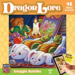Masterpieces Puzzle Company Dragon Lore Snuggle Bunnies Value Jigsaw Puzzle (48-Piece), Art By Randal Spangler front-402908