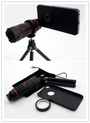 Nine States High Quality Mobile Phone Telephoto Lens Zoom 4-12X For Samsung Galaxy Note3 Noteiii With Telescopic Tripod , Pouch And Cleaning Cloth
