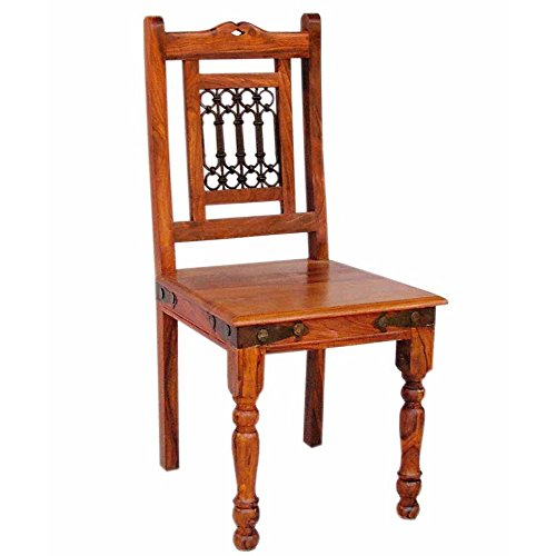 Nikunj Dining Chair (Honey Finish, Brown)