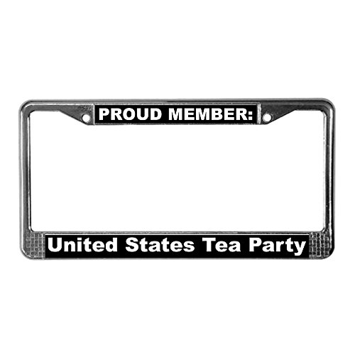 Cafepress Us Tea Party License Plate Frame License Frame - Standard Multi-Color