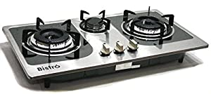 Countertop Stove Prices : ... Stove Built In / Counter Top 3 Burner Cooktop Range Stainless Steel