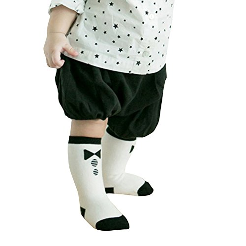 Urparcel Baby Socks Cotton Socks Kids Knee High Breathable Bowknot Long Socks