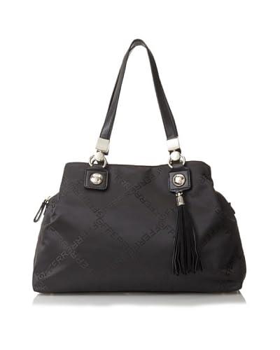 GF Ferré Women's Logoed Shopper, Black