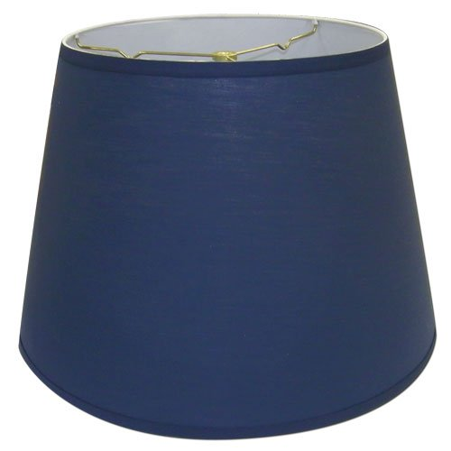 Lamp Shade 11x17x13 Washer Fitter (Spider), Linen : Navy Blue