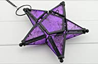 Glass Star Lantern Hanging Candle Hol…