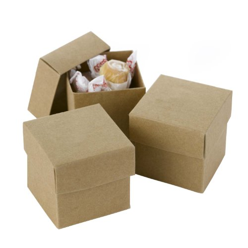 Hortense B Hewitt 2-Piece Favor Boxes, Natural Kraft, 25-Pack