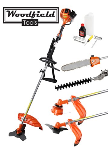 Woodfield 52CC 4 in 1 Multi-Tool - Brush Cutter, Hedge Trimmer, Strimmer and Pruner
