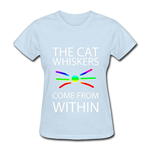 Women's Dan And Phil Cat Whiskers Poster T-shirt Best SkyBlue Size L (Extract Blender compare prices)