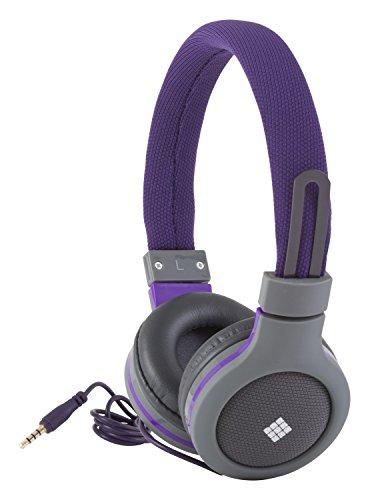 Polaroid Php120Pu Canvas Headphones With Mic, Noise Isolation Purple