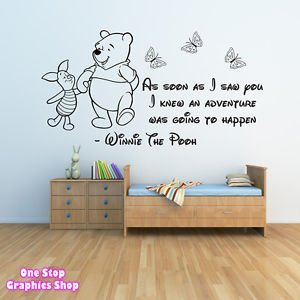 1Stop Graphics - Shop Winnie The Pooh Wall Sticker 3 - Girls Boys Baby ...