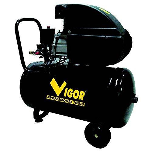 Vigor Vca-50L Compressore, 230 V, 1 Cilindro, Trasmissione Diretta, 2 Hp, 50 l