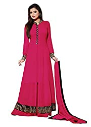 Spangel Fashion Latest Designer Collection for Plazo Style Salwar Suit (Pink Color_Free Size)