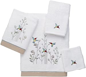 Avanti Linens Avanti Premier Hummingbird 4-Piece Towel Set, White at Sears.com