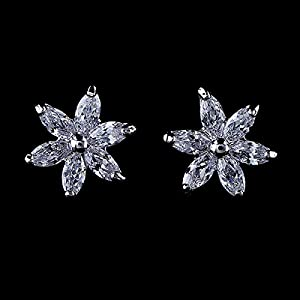 GOMO Small Chic Crown Cubic Zirconia Stud Earrings
