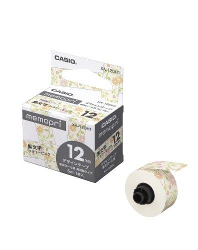 カシオ計算機 メモプリ用テープ 12mm フラワーピンク 1巻入り XA-12DH1