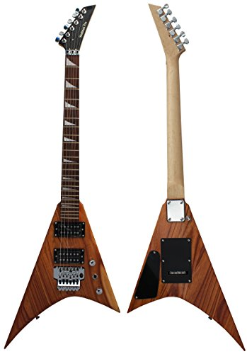 Stedman Pro Flying V Series Electric Guitar With Many Accessories - Natural (Flying V Dean compare prices)