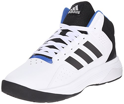 Adidas Performance Men's Cloudfoam Ilation Mid Basketball Shoe,White/Black/Metallic Silver,10.5 M US