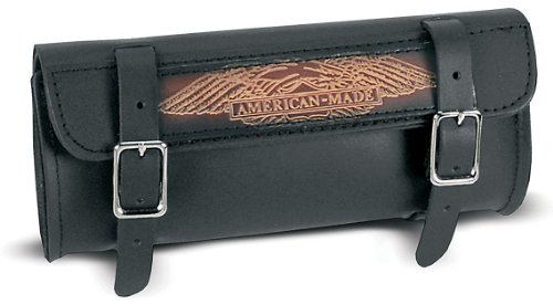 Carroll Leather 725 Black 2 Strap Tool Pouch/Patch