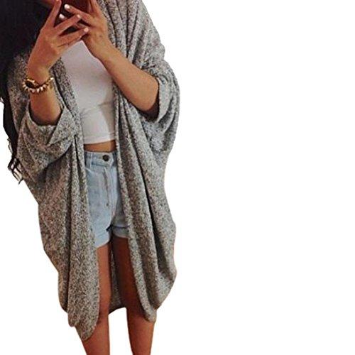 Fortan Womens Lady Casual magliata manica del cappotto del rivestimento del cardigan (medium)