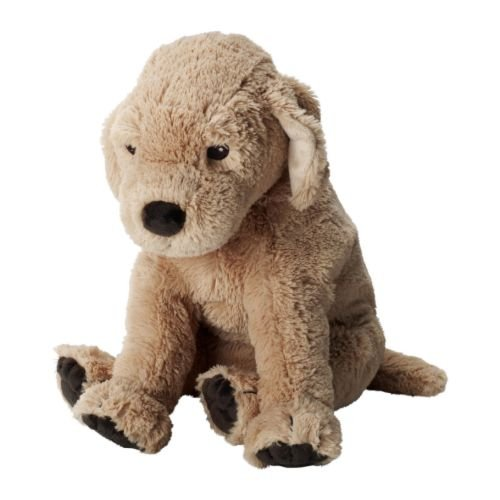 Ikea Puppy Stuffed Animal Soft Toy Dog Golden Retriever - 1