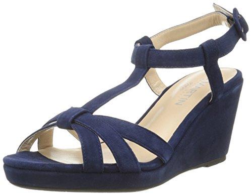 Jb MartinQuideo E16 - Sandali Donna , Blu (Bleu (Chevre Velours Saphir)), 41