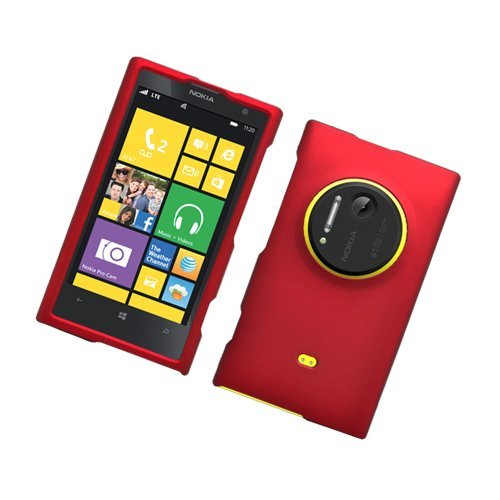 Eagle Cell Nokia Lumia 1020/Elvis Rubberized Phone Case - Retail Packaging - Red