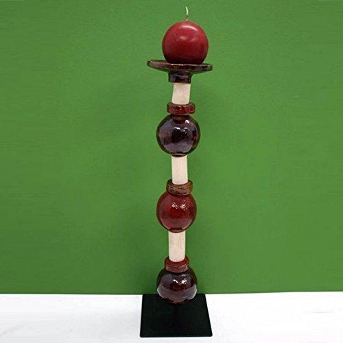 Porta velas artesanal bolas con separadores mediano