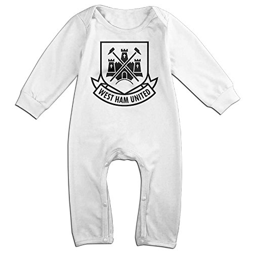 OLGB Newborn West Ham United F.c. Long Sleeve Climbing Clothes 24 Months (West Ham United Fc Shorts compare prices)
