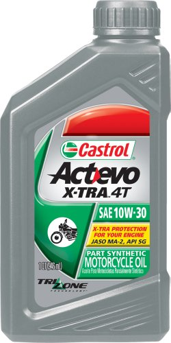 Castrol Actevo X-Tra 4T Synthetic Blend - 10W30 - 1qt. 06400 (Castrol 10w30 Synthetic Motor Oil compare prices)