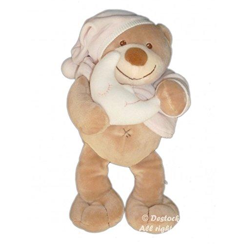 peluche-doudou-ours-beige-rose-lune-orchestra-boutchou-monoprix-h-26-cm
