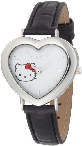 Hello Kitty Women's H3WL1007BK White Dial Watch