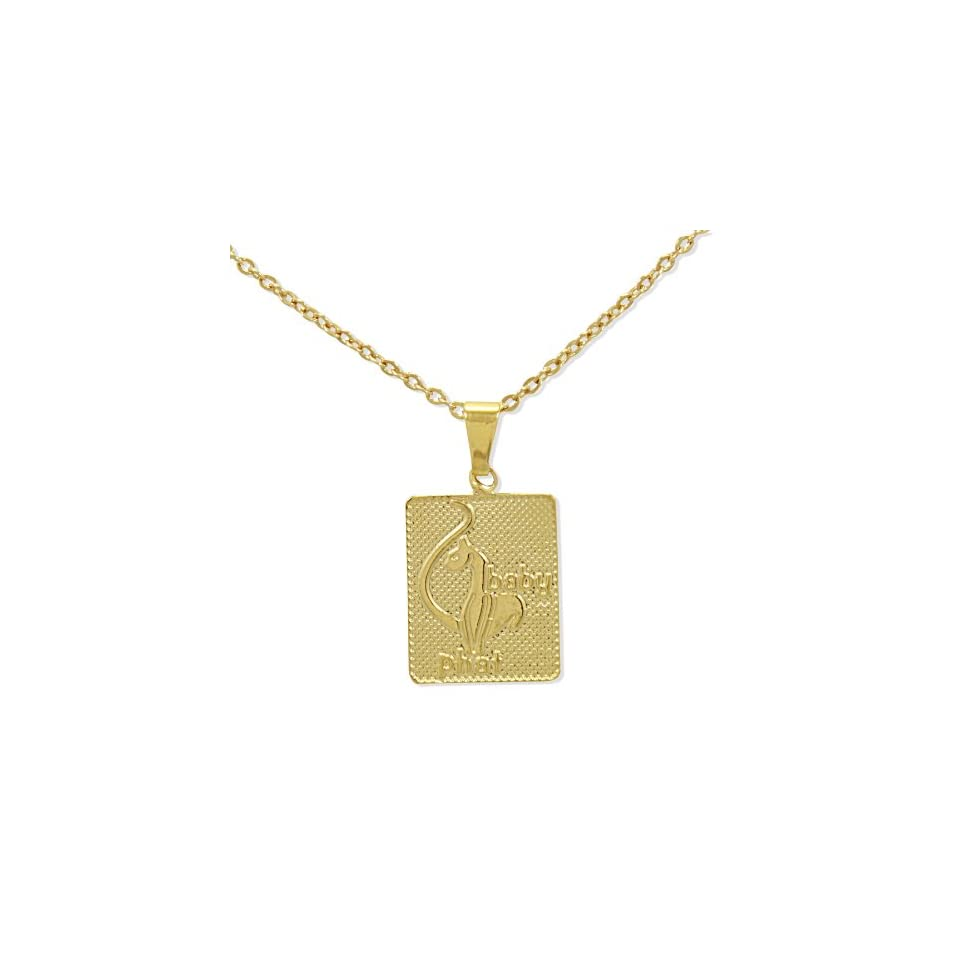 GF Baby Phat Cat Pendant Charm & Chain Necklace Girl Teens Lady Jewelry