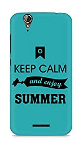 Amez Keey Calm and Enjoy Summer Back Cover For Acer Z630S
