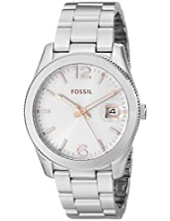 FOSSIL Perfect Boyfriend Analog White Dial Women's Watch - ES3728