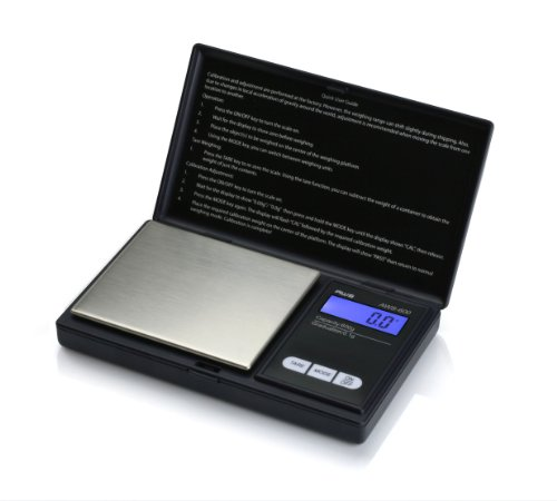 American Weigh Scales AWS-600-BLK Digital Personal Nutrition Scale, Pocket Size, Black - 1