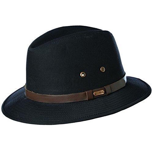 stetson-mens-cotton-gable-water-repellent-safari-sun-hat-black-l