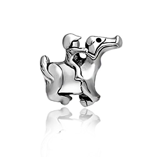 Everbling Kid Running Horse 925 Sterling Silver Charm Bead Fit European Pandora Charms Bracelet