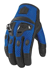 Icon Justice Mesh Gloves , Distinct Name: Blue, Size: 2XL, Gender: Mens/Unisex, Primary Color: Blue, Apparel Material: Textile 3301-1581