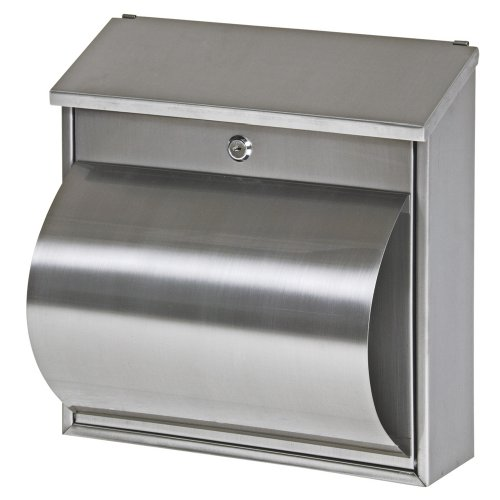 Basi-Saturn 2170-0800 BK 800 Stainless Steel Letterbox 360 x 360 x 100 mm with Newspaper Compartment