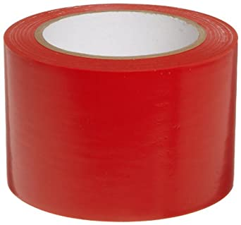 "Brady 108' Length, 3"" Width, B-725 Vinyl Tape, Red Color Aisle Marking Tape"