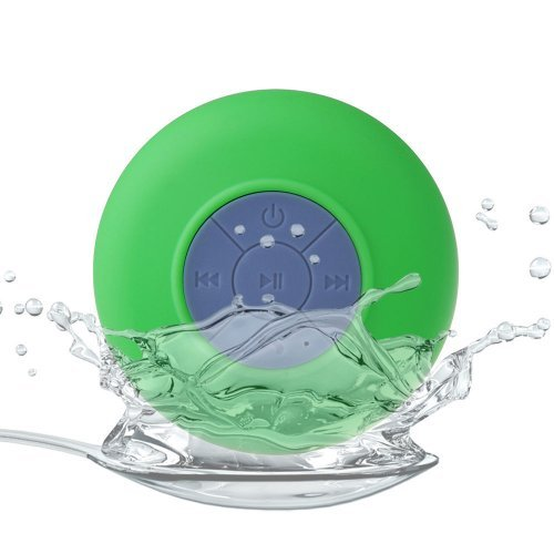 Waterproof Bluetooth Shower Speaker Hands Free Speakerphone Mini Speakers For Iphone,Ipad, Cell Phone,Laptop,Xbox,Computer(Green)