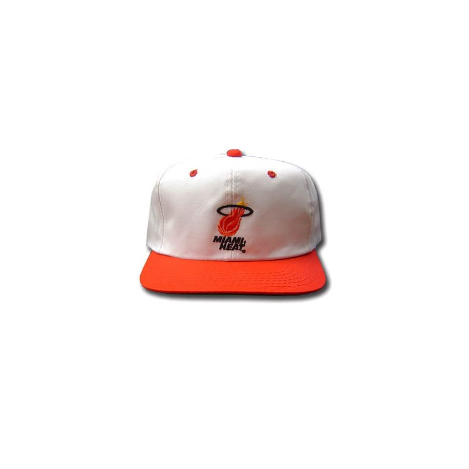 NBA MIAMI HEAT WHITE RED FLAT BILL YOUTH KIDS CAP HAT